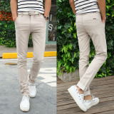 Zi Hou Men Straight Fit Slim Fit Cotton And Linen Pants Linen Trousers 181 Summer Thin Khaki 181 Summer Thin Khaki In Stock