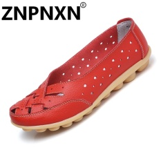 Price Znpnxn Fashion Flat Women S Sandals Summer Shoes Soybean Shoes Leather Casual Shoes(Red) Intl Znpnxn Online