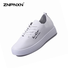 Best Offer Znpnxn Women Shoes New Pattern Lace Up Fashion Casual Shoes Stylish Ladies Shoes Ventilated Women Shoes Size 36 40 Yards White Intl
