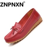 Wholesale Znpnxn Women S Leather Flat Shoes Soft Bottom Non Slip Women S Mocassins Loafers Red Intl