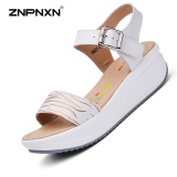 How To Get Znpnxn Women S Shoes Casual Leather Lithe And Beautiful Sandals Shoes All Match Comfortable Fashion Women S Sandals Trend Shoes Size 35 40 Yards White Intl