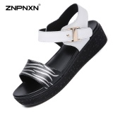 Cheapest Znpnxn Women S Shoes Casual Leather Lithe And Beautiful Sandals Shoes All Match Comfortable Fashion Women S Sandals Trend Shoes Size 35 40 Yards White Intl