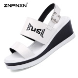Cheap Znpnxn Women S Shoes Casual Leather Lithe And Beautiful Sandals Thick Bottom Shoes All Match Comfortable Fashion Women S Sandals Trend Shoes Size 35 40 Yards White Intl Online