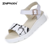 Best Znpnxn Women S Shoes Casual Leather Lithe And Beautiful Sandals Thick Bottom Shoes All Match Comfortable Fashion Women S Sandals Trend Shoes Size 35 40 Yards White Intl