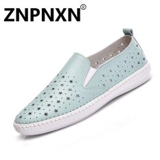 Sales Price Znpnxn Women S Shoes Fashion Casual Shoes Flat Loafers Shoes Lazy Shoes Mocassins Loafers(Blue) Intl