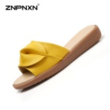 Znpnxn Women S Shoes Summer Casual Leather Sandals Shoes All Match Comfortable Fashion Women S Sandals Trend Shoes Size 35 40 Yards Yellow Intl Price