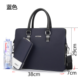 Great Deal Zohan New Style Bag Business Portable Briefcase Blue