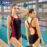 Top 10 Zoke S*xy Women Backless Racing Swimming Clothing Professional Swimsuit 1 Black And Red 1 Black And Red