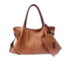zoowop Dumplings Type Folding Bag, Tote Bag + Shoulder Bag + Wallet ,Brown 1 Set (3 Pieces) - intl