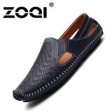 Retail Zoqi Fashion Men S Low Cut Formal Shoes Leather Casual Shoes Blue Intl
