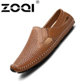 Great Deal Zoqi Fashion Men S Low Cut Formal Shoes Leather Casual Shoes Brown Intl