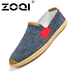 Where To Buy Zoqi Men S Fashion Slip Ons Loafers Canvas Casual Shoes Blue Intl