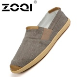Discount Zoqi Men S Fashion Slip Ons Loafers Canvas Casual Shoes Brown Intl Zoqi China