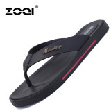 New Zoqi Summer Man S Flat Flip Flops Fashion Casual Breathable Comfortable Shoes Slides Black