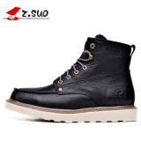 Where To Buy Z.suo British Men Fall And Winter Tooling Boots Men S Shoes Zs16206 Black