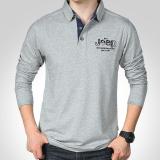 Zuncle Men S Long Sleeved T Shirt Loose Lapel Cotton Polo Shirt Grey Coupon Code