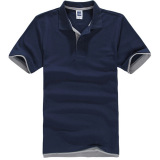 Discount Zuncle Men S Polo Shirt Short Sleeve Golf Tennis Shirt Navy Blue Gray Zuncle