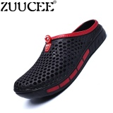 Cheapest Zuucee Men Summer Casual Sandals Hole Shoes Hollow Beach Slippers Black Intl