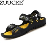 Best Zuucee Men Summer Sandals Casual Sports Slippers Shoes Peep Toe Sandals Yellow Black Intl