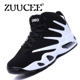 Sale Zuucee Men Winter High Top Basketball Shoes Air Causion Sports Sneakers White Black Intl Toursh Cheap