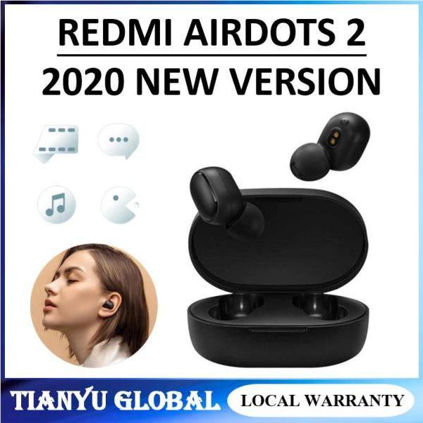 Original Xiaomi Mi True Wireless Earbuds / Xiaomi AirDots 2  Wireless Bluetooth 5.0 Charging Earphone In-Ear stereo bass Earphones Ture Wireless Earbuds AI Control / BT v5.0 Fast Auto Pairing DSP Noise Reduction 12H Playtime Sport Earbuds With Mics Singapore