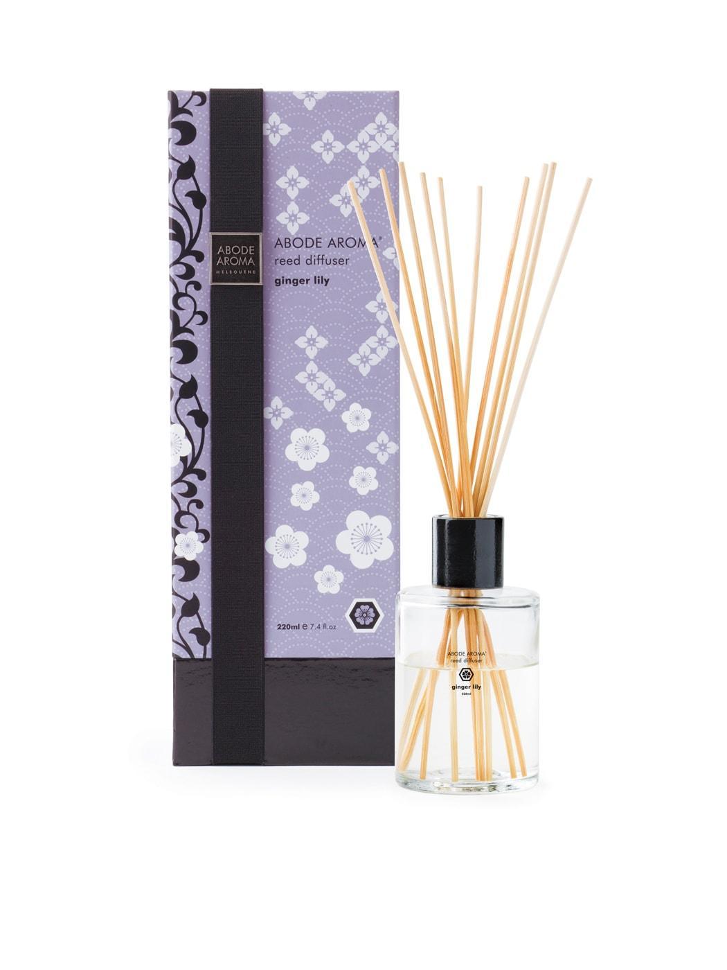 Abode Aroma Kimono 220ml Diffuser Ginger Lily/Green Tea/Yuzu Flower/Black Musk