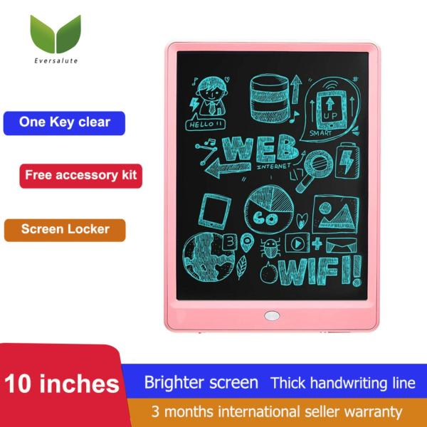 [Early Eduaction tool For Kids , kids toy] Eversalute Writing Tablet, Upgrade Version10 inch Electronic Doodle Board, LCD Handwriting Notepad, Screen Lock & Erase Key Pressure-sensitive Screen ,Handwriting Sketching Graffiti Board  For Kids and Adults