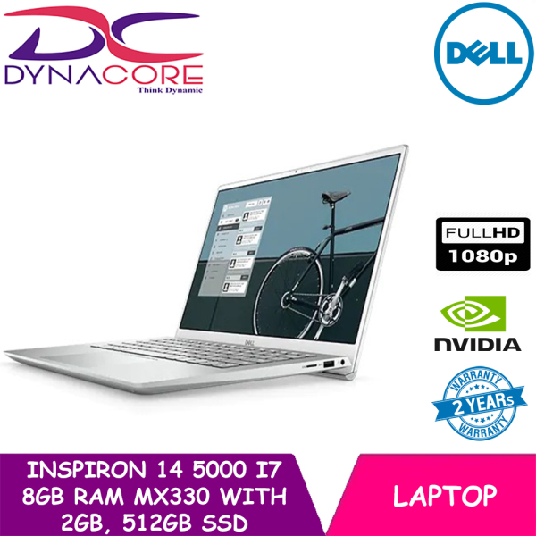 【READY STOCK】DELL New Inspiron 14 5000 New 2021 Gen Intel® Core™ i7 | GeForce® MX330 | 8GB RAM | 512GB SSD | 14 INCH | WIN 10 HOME
