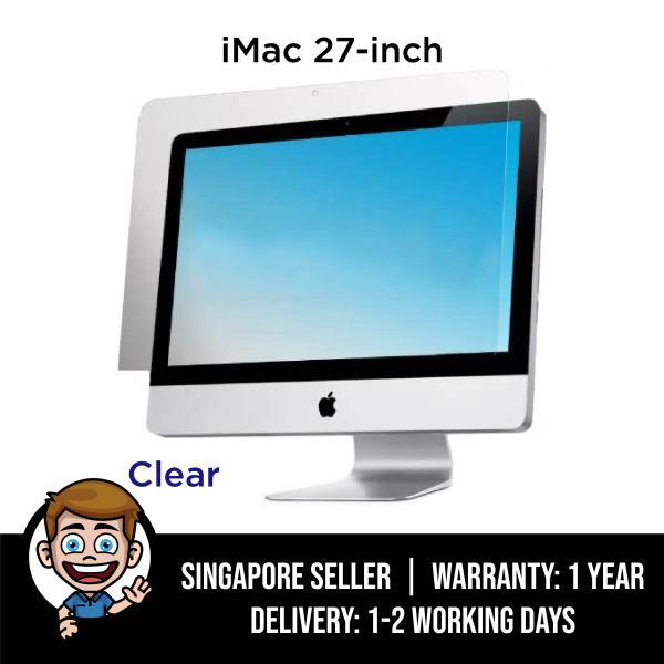 iMac Screen Protector, Clear Screen Protector Filter for 27 inch iMac, iMac Pro 5K Desktop Display 27 A2115 A1419 A1312 and iMac Pro 27-inch A1862 - Clear