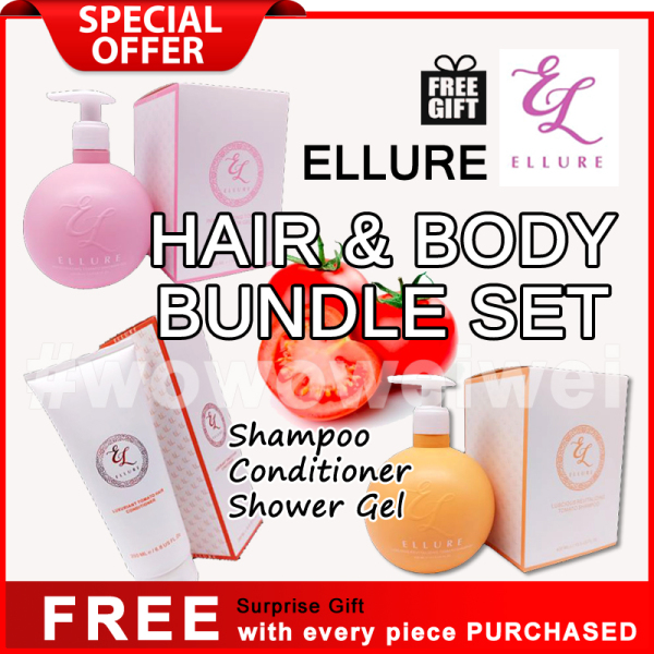Buy ELLURE NEW Shampoo + Conditioner + Shower Gel Bundle Set Singapore