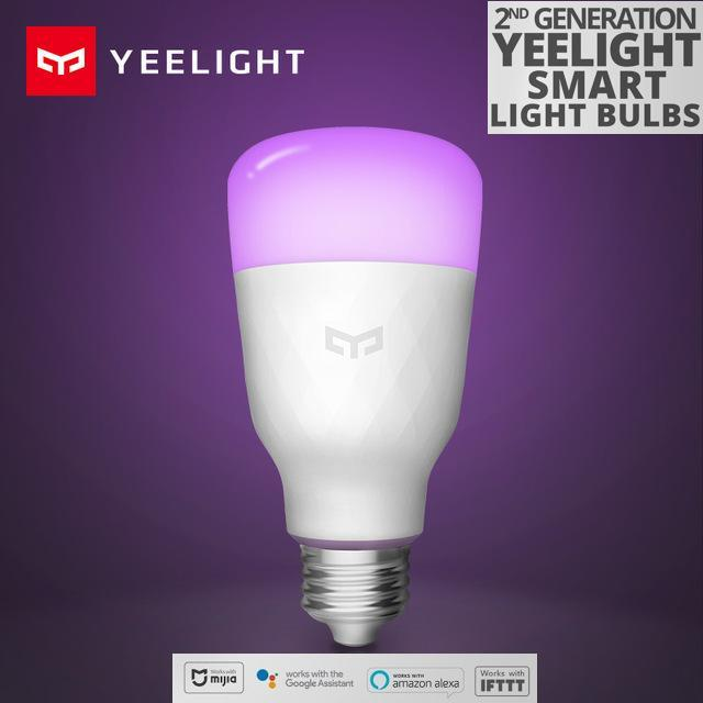 [SG Seller] Xiaomi Yeelight V2 Colour LED WiFi RGB Smart Light Bulb , E27, 800 Lumens, 10W RGB , Colour adjustable and Dimmable Remote Control Enabled, Compatible with Android, iOS, Amazon Alexa, Google Assistant and IFTTT