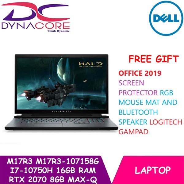 【DELIVERY IN 24 HOURS】 DYNACORE - DELL NEW ALIENWARE M17 R3 M17R3-107158G |Intel Core i7-10750H | 17.3 Full HD 144Hz IPS Display + Tobii | 16GB DDR4 Memory | 512GB M.2 NVMe SSD | NVIDIA RTX 2070 8GB Max-Q | Win 10 Home | 2 Year Premium Support | M17R3