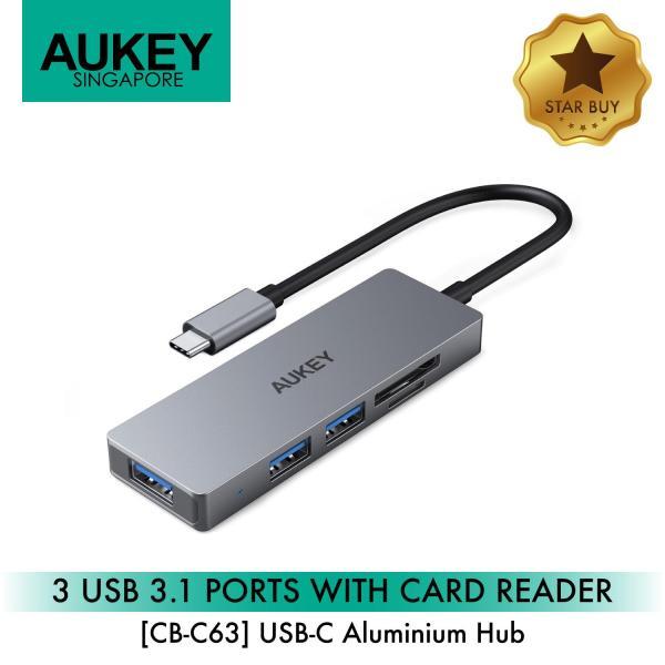Aukey CB-C63 3 USB 3.1 Port with Card Reader Hub