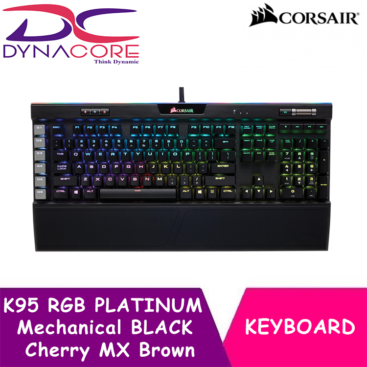 DYNACORE - Corsair Gaming K95 RGB PLATINUM Mechanical Keyboard, Cherry MX Brown, Black Singapore
