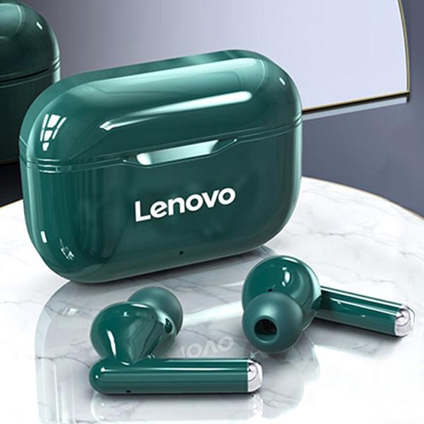 Lenovo LivePods LP1 Flagship Phiên bản cao cấp Tai nghe không dây thực sự Tai nghe BT 5.0 Tai nghe âm thanh nổi với màng ngăn kép Máy chủ kép Tai nghe chống nước IPX4 Tai nghe thể thao với công nghệ giảm tiếng ồn Tai nghe mic tích hợp HD gọi trong tai