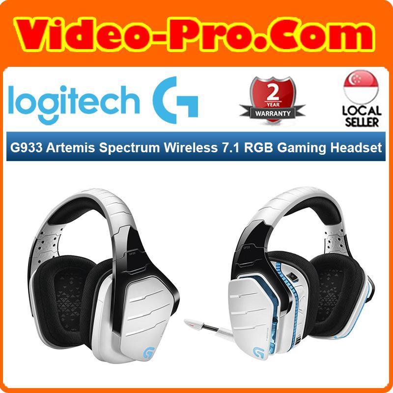 Logitech G933 Snow Artemis Spectrum Wireless 7.1 Gaming Headset 981-000622 Singapore