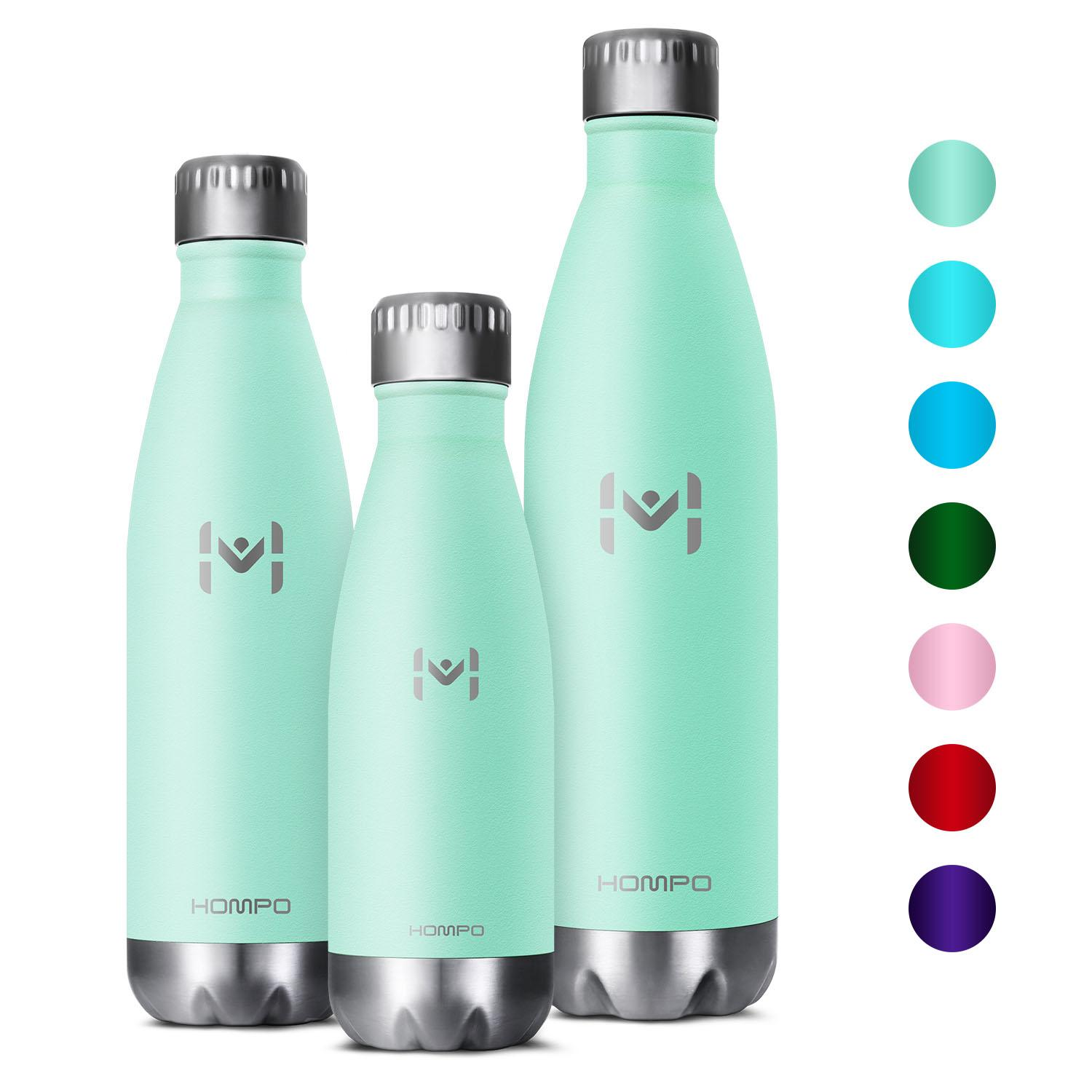 e6538076a HOMPO Stainless Steel Vacuum Insulated Thermal Flask 350ml Water Bottle -  BPA Free Vacuum Insulated Metal