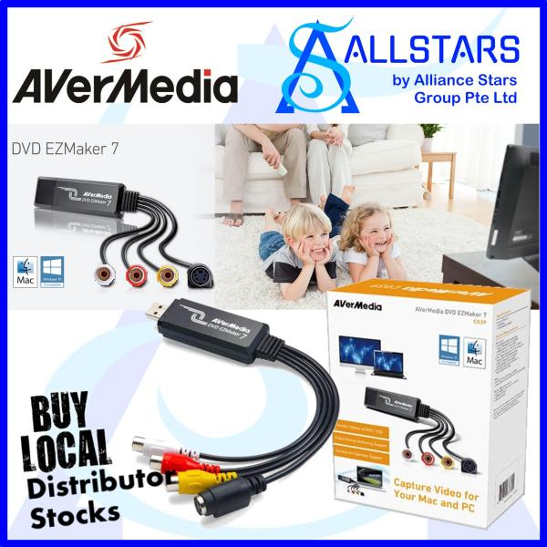 (ALLSTARS : We are Back Promo) AVERMEDIA C039 DVD EZMAKER 7 / Standard Definition USB Video Capture Card , Analog to Digital Recorder, RCA Composite, VHS to DVD, S-Video Win 10