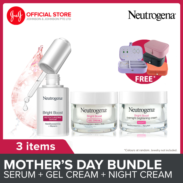 Buy [Lazada Exclusive] Neutrogena Mothers Day Gift Set Bright Boost Set with Free Vanity Organizer (Serum, Gel Cream and Overnight Brightening Cream) Singapore