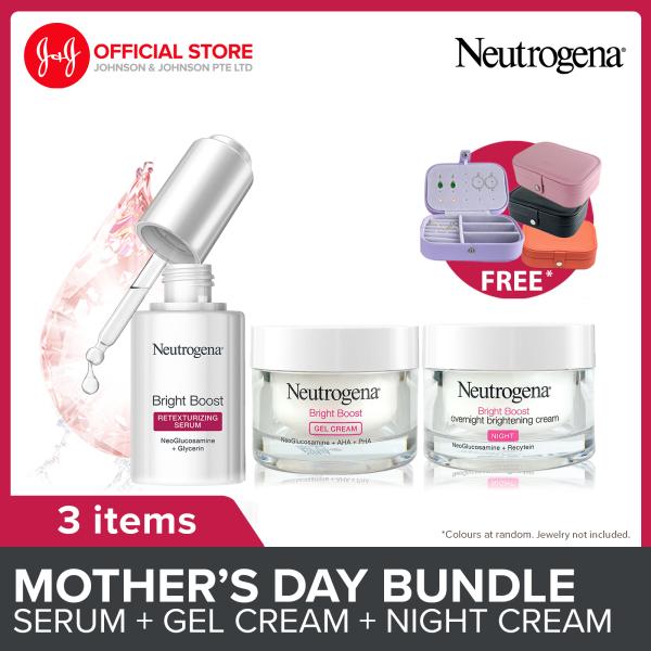 Buy [Lazada Exclusive] Neutrogena Mothers Day Gift Set Bright Boost Set with Free Vanity Organizer (Serum, Gel Cream and Overnight Brightening Cream) Singapore