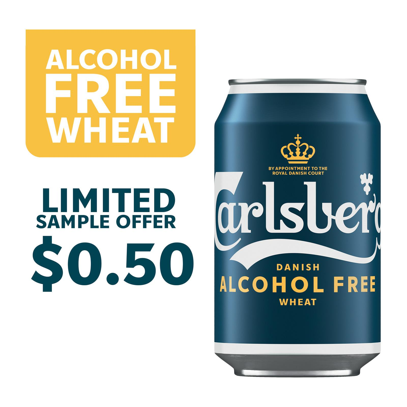 Carlsberg Alcohol Free Wheat Beer Can 330ml [Sample 1 per customer]