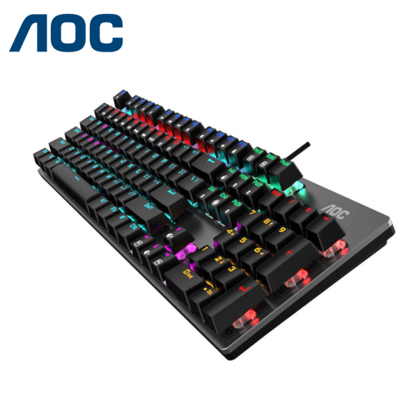 AOC Mechanical Switch Gaming Keyboard 104 key Blue Switch (GK410) / Local Warranty