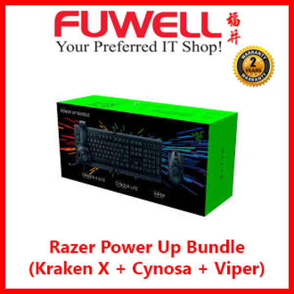 Razer Power Up Bundle (Kraken X Lite + Cynosa Lite + Viper Gaming Mouse) [2Years Local Warranty] Singapore