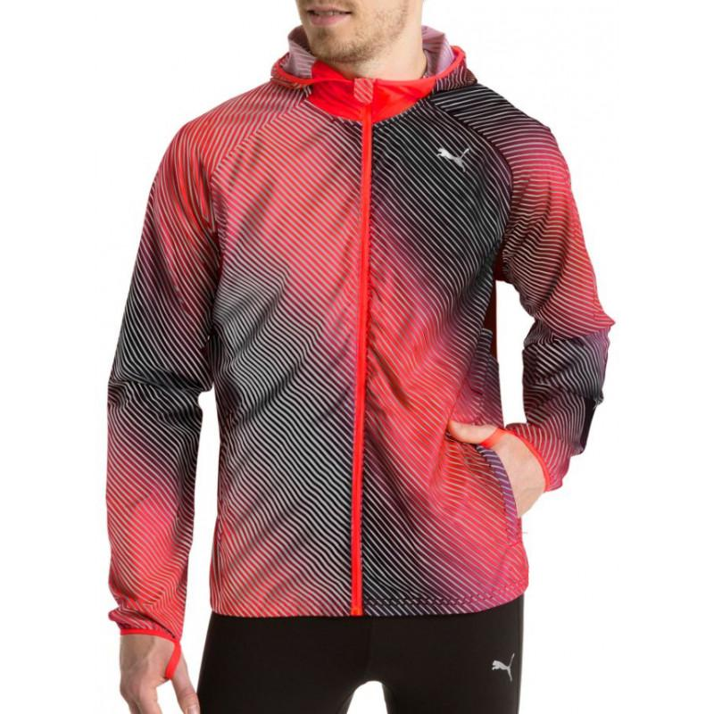 Puma Packable Woven Jacket - Men (red/black) 514350-02 By Sports-Zone.
