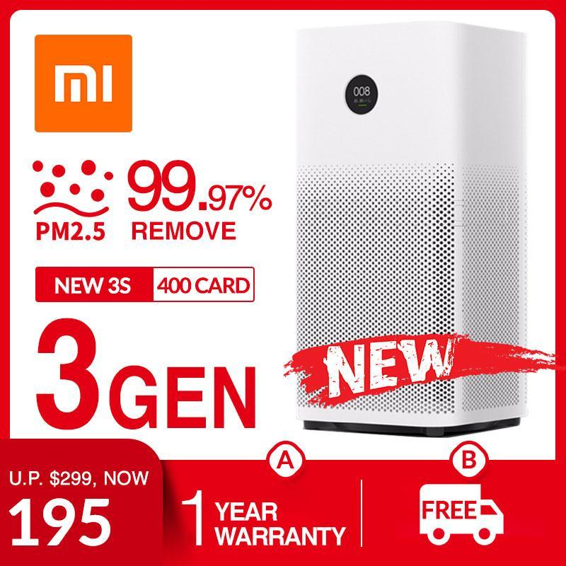 Xiaomi Smartmi 3 Air Purifier Touch AMOLED Display 99.97% PM2.5 Remove With Mijia MiHome APP Control Charcoal Fibre HEPA Filter Singapore