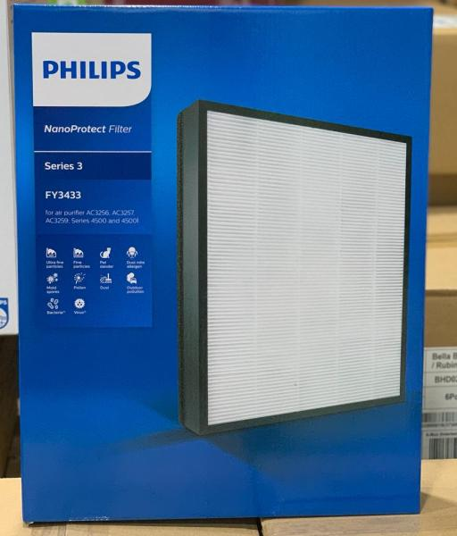 Original Philips Nano Protect HEPA filter FY3433/10 for Philips Air Purifier AC3256/10,AC3257,AC3259,AC4550/10(The reassurance of 99.97% purification)(Pre Order- Ships in 15 days) Singapore