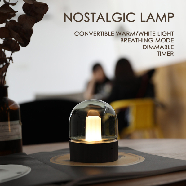 Nostalgic Night Light USB Rechargeable LED Lamp 4 Modes Control Home Decorative lamp