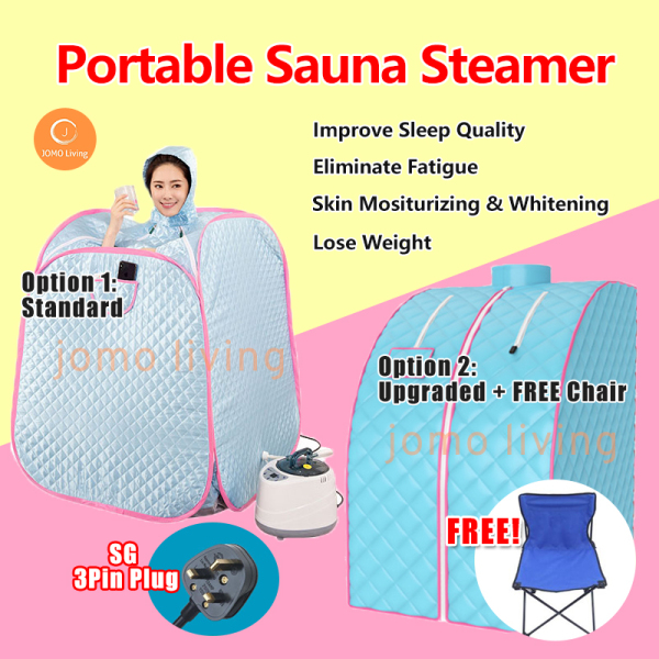 Buy 【READY STOCKS】Portable Sauna Steamer Personal Home Spa Steam Sauna Lose Weight Body Slimming Therapy 桑拿汗蒸 Singapore