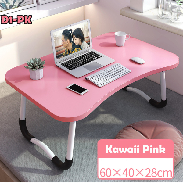 【SG Local Seller】Portable bedding table, Foldable Laptop Table, Desk with Tablet holder, slot for Phone to watch movies, shows or youtube on bed.
