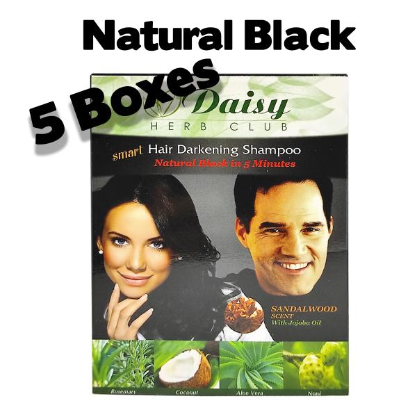 Buy [5 Boxes]Daisy Hair Colouring Dye NATURAL BLACK (Shampoo) Singapore